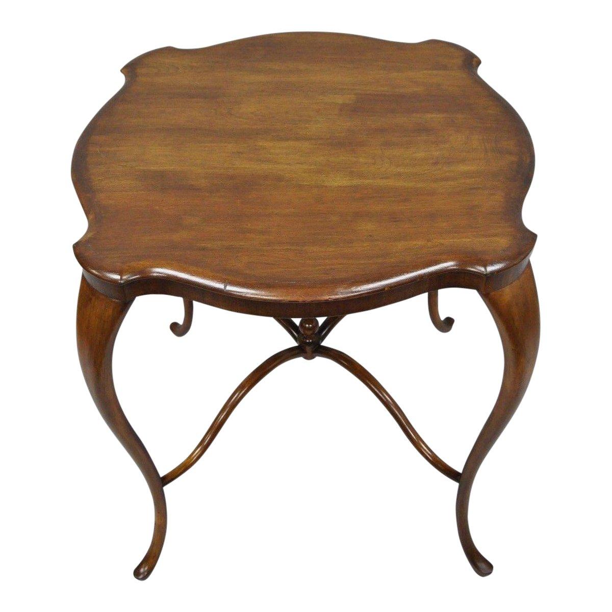 antique art nouveau victorian mahogany cabriole leg turtle top accent table chairish sofa ikea bedroom curtains threshold mango wood end tables edmonton clear coffee acrylic sams