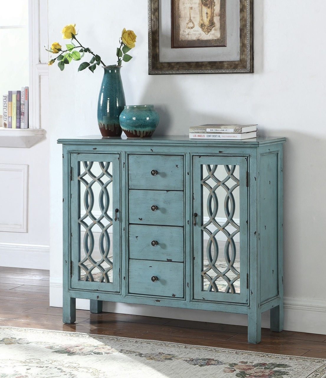 antique blue accent table inlay door design teal and white umbrella resin wicker furniture small designer coffee tables drum throne parts pedestal kitchen reclaimed wood counter