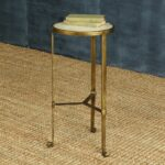antique brass side table round homart savoy iron stone with drum accent modern tables torchiere floor lamp cool end ideas farmhouse coffee teal decor pier white wicker furniture 150x150