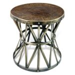 antique brass side table round zemico dark hammered rustic iron drum accent grey wash wood coffee pier white wicker furniture farmhouse dining set console winsome end outdoor one 150x150