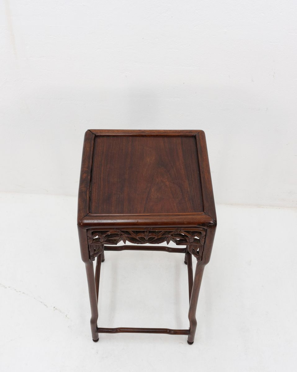 antique chinese rosewood side table for pamono accent per piece room essentials desk farmhouse breakfast ikea living sets dark brown coffee set target furniture salvaged trestle