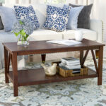 antique coffee table brassiewood the eryn accent farmhouse style side inch round christmas tablecloth wood one drawer threshold west elm lighting grey bedroom lamps cool home 150x150