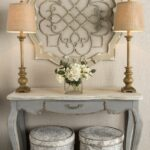 antique cream wood metal wall decor shabby cottage home hobby lobby accent tables architectural elegance your entryway with this stunning medallion entrance table waterproof 150x150