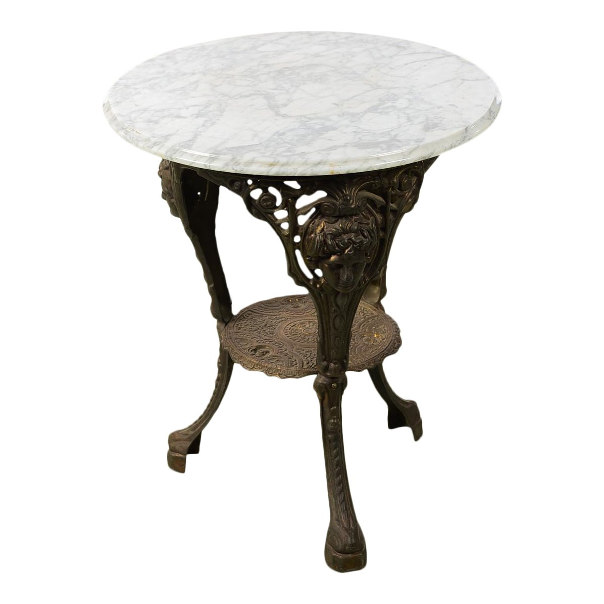 antique english cast iron pub bistro table round marble top wround accent half kitchen target makeup vanity shaped side retro bedroom chair pier one console patio stand home decor