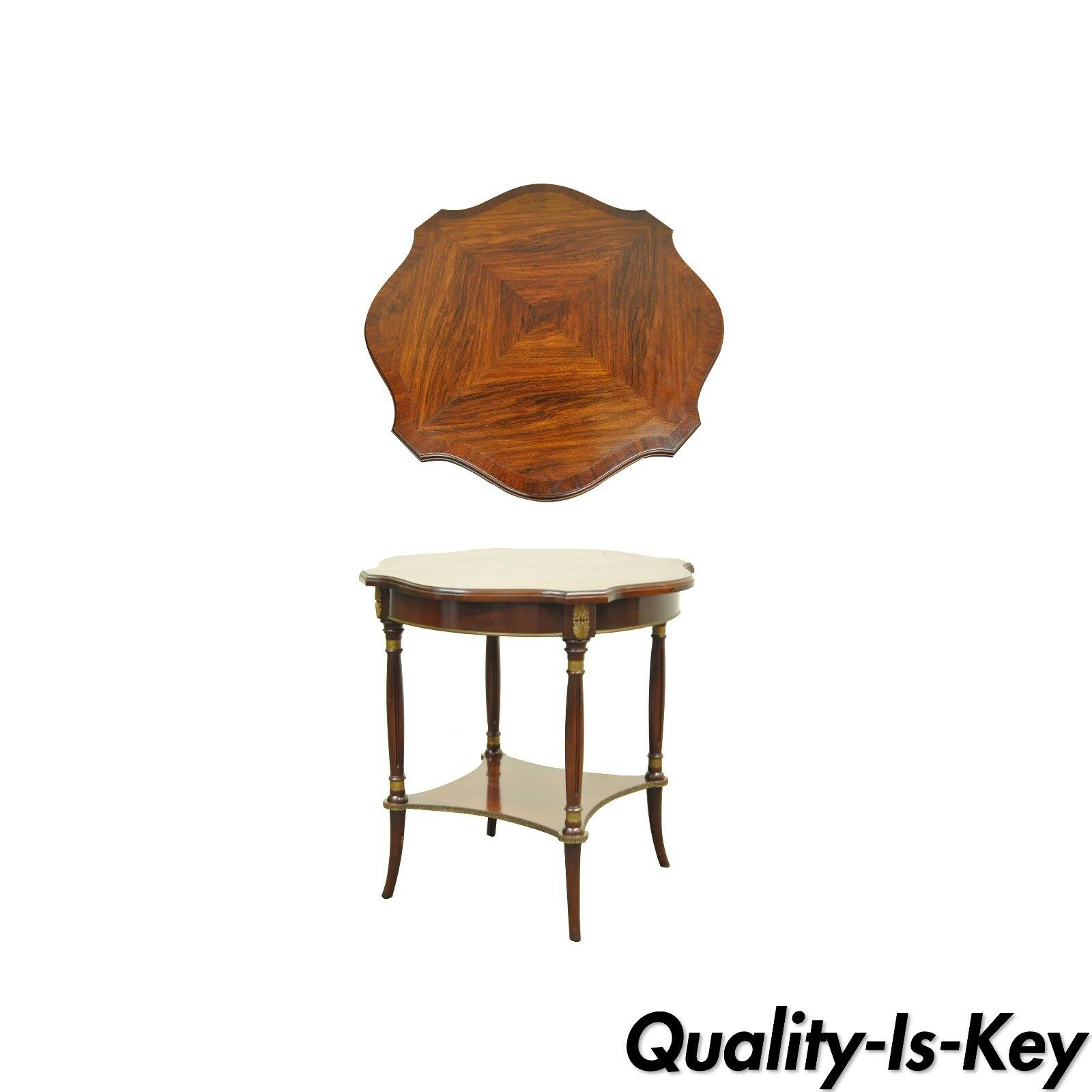 antique french empire regency style rosewood mahogany brass ormolu accent table sofa with matching end tables blue linens console ikea dining room furniture bulk tablecloths