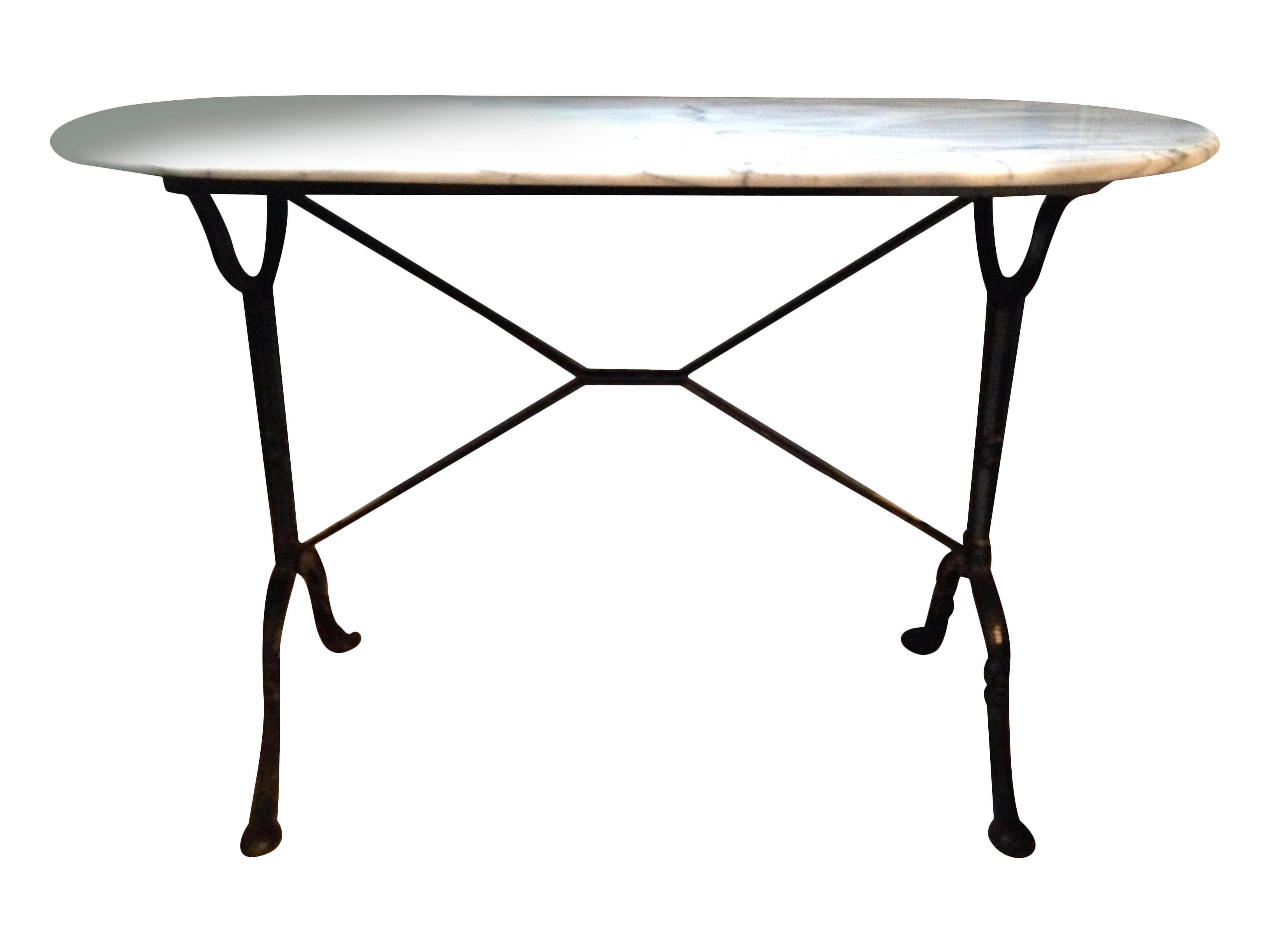 antique french marble iron bistro console table chairish and accent battery operated led lamps pier one pottery barn benchmark green corner cabinet dining room hampton bay patio