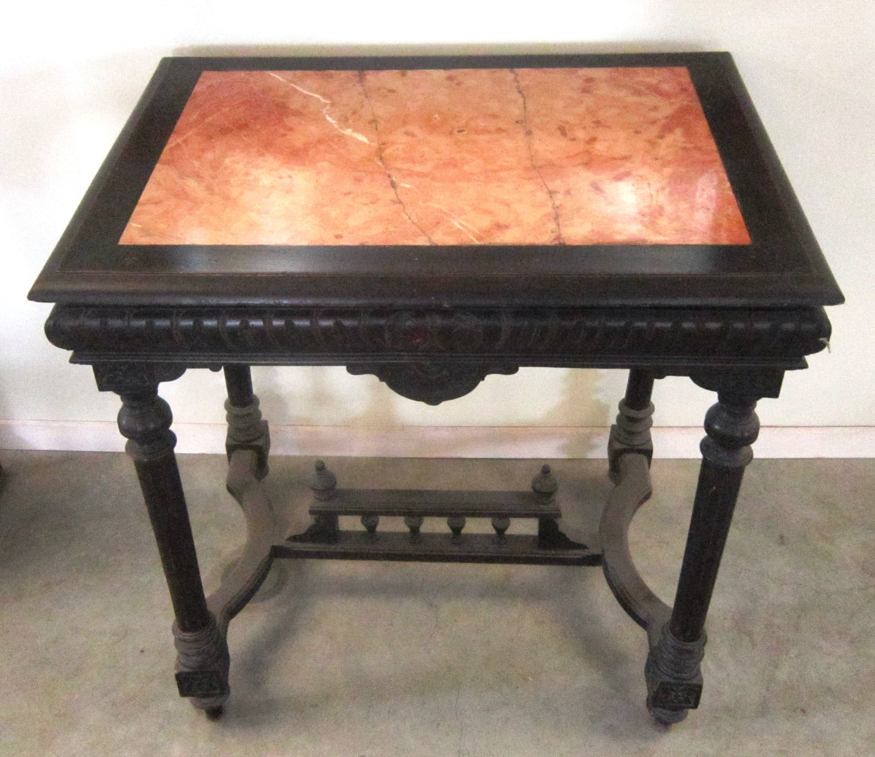 antique furniture and carpets for antiques mallorca victorian style accent table detailed sideboard with rose marble top insert circle coffee pottery barn glass dining door tall