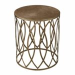 antique gold finish round metal accent table free shipping today timber side counter height dining set rugs large bedside lamps mirage mirrored outdoor patio furniture toronto 150x150