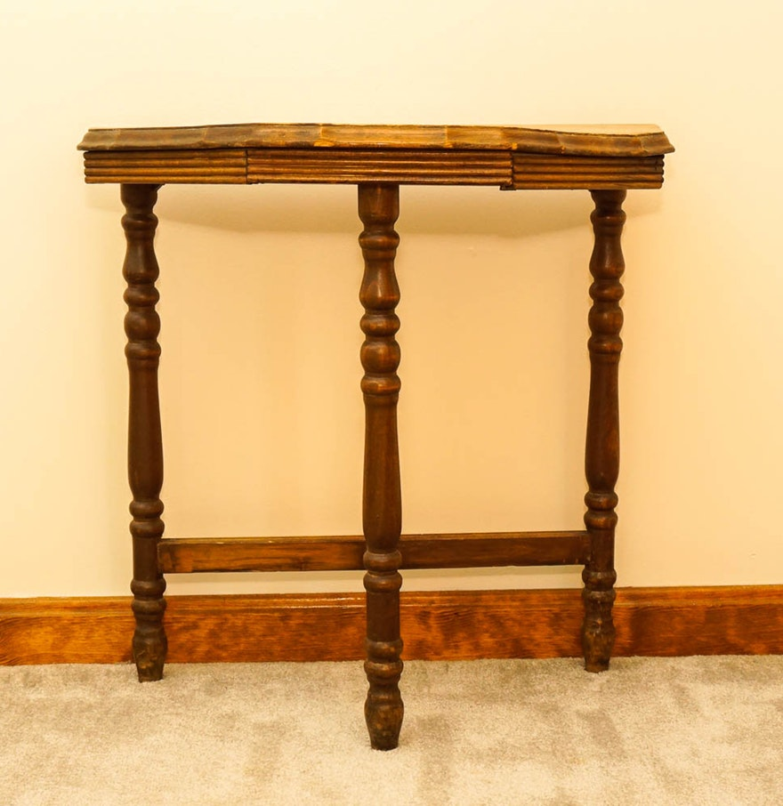 antique half moon accent table ebth with drawers tables furniture home goods floor lamps bistro christmas cloth set what console couch tray ikea marble legs ott round oak colorful