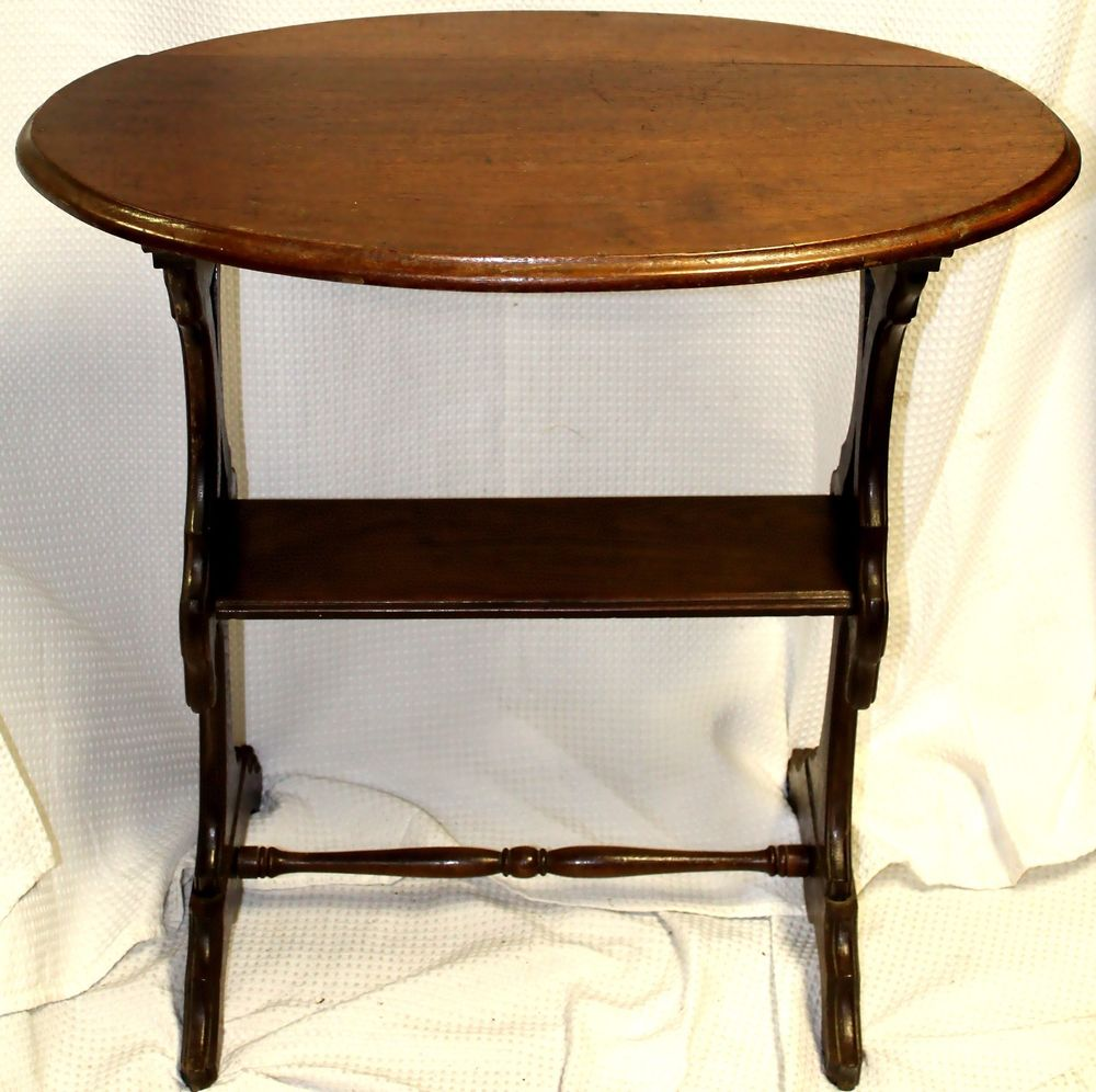 antique jacobean revival style oak accent table details about vegas furniture stained glass floor lamp shades round nest coffee tables dining wooden chairs large kitchen clocks