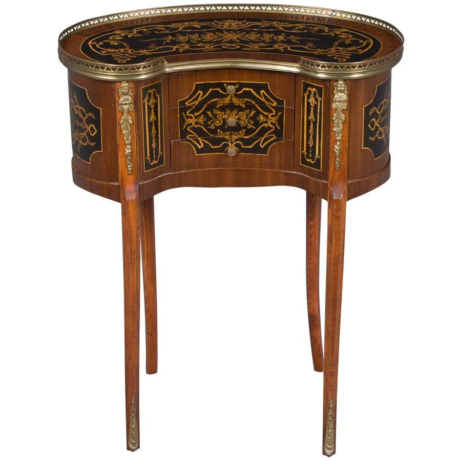 antique kidney shaped side table img accent gently curved legs homeantique furniture english reproductionsside tablesantique kitchen sets with bench sedona brown wicker outdoor