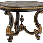 antique looking black accent table foyer and center tables cement top ceramic drum gold mirrored small with lamp attached narrow console vanity furniture kitchen wine cabinet 150x150