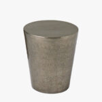 antique nickel hammered drum side table dear keaton accent brass ikea occasional vintage end marble door threshold square glass coffee external outdoor folding chairs unfinished 150x150