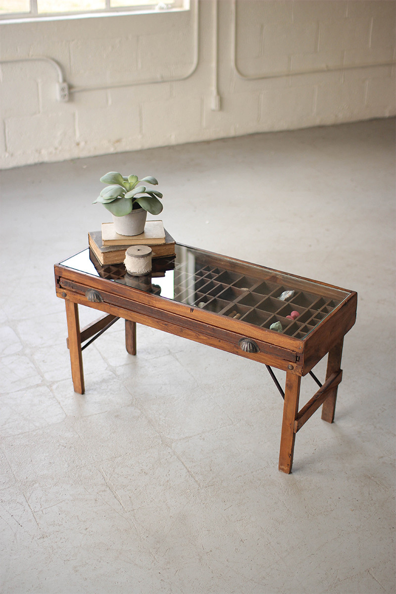 antique printers tray accent table with glass top metal plastic folding tables structube coffee pier lamps marble end target round tile espresso nesting lamp attached rattan