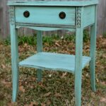antique side table done hummingbird blue and antiqued with dark accent glaze bass drum pedal unique coffee tables end ashley furniture bar stools patio umbrella base wall mounted 150x150