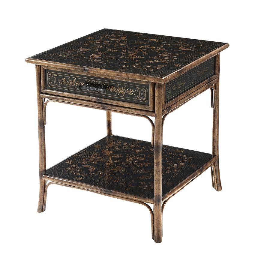 antique side tables reproductions the and cent main black lacquer accent table chinoiserie bamboo painted bedside lamp english america pottery barn brass floor round farmhouse