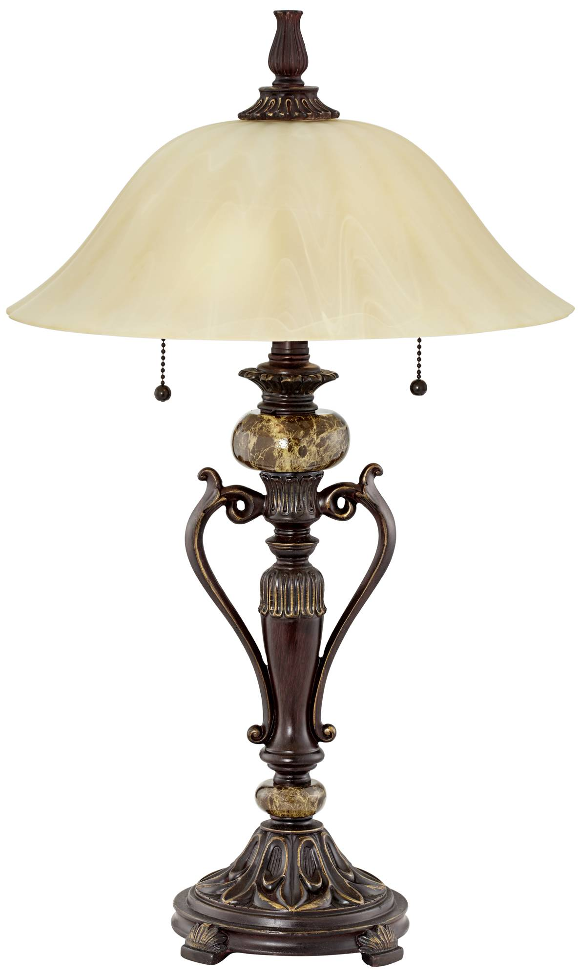 antique style bronze accent table lamp champagne glass shade twin shipping pull chain affordable modern outdoor furniture grill with side small cream coffee tiffany buffet lamps