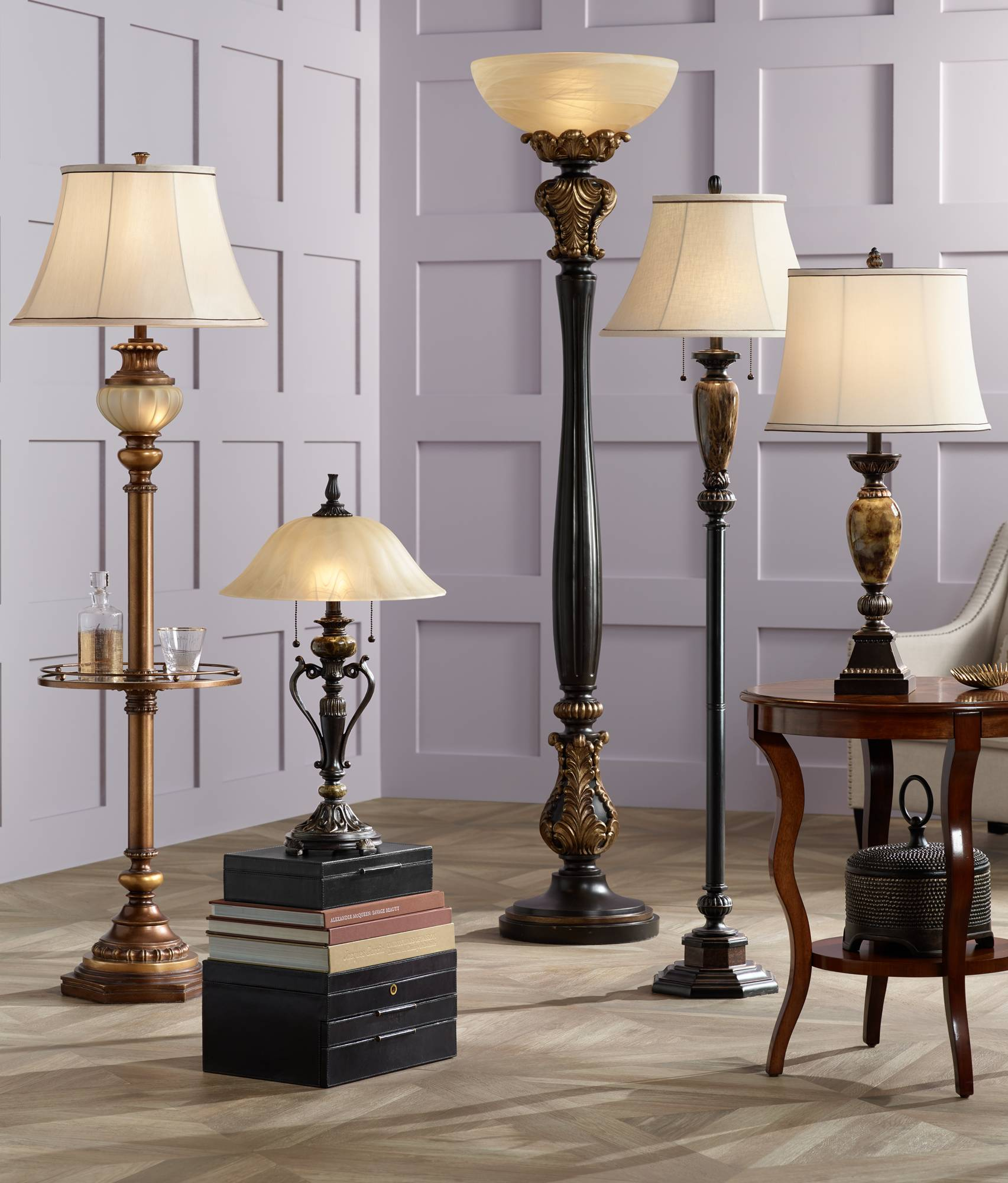 antique style bronze accent table lamp champagne glass shade twin traditional floor lamps pull chain waterproof tablecloth very small end tables patio furniture covers canadian