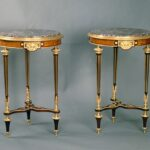 antique table identification guide pair small louis xvi style second empire napoleon iii lemonwood tripod gueridon tables with diamond shaped inlays and fleur pecher marble top 150x150