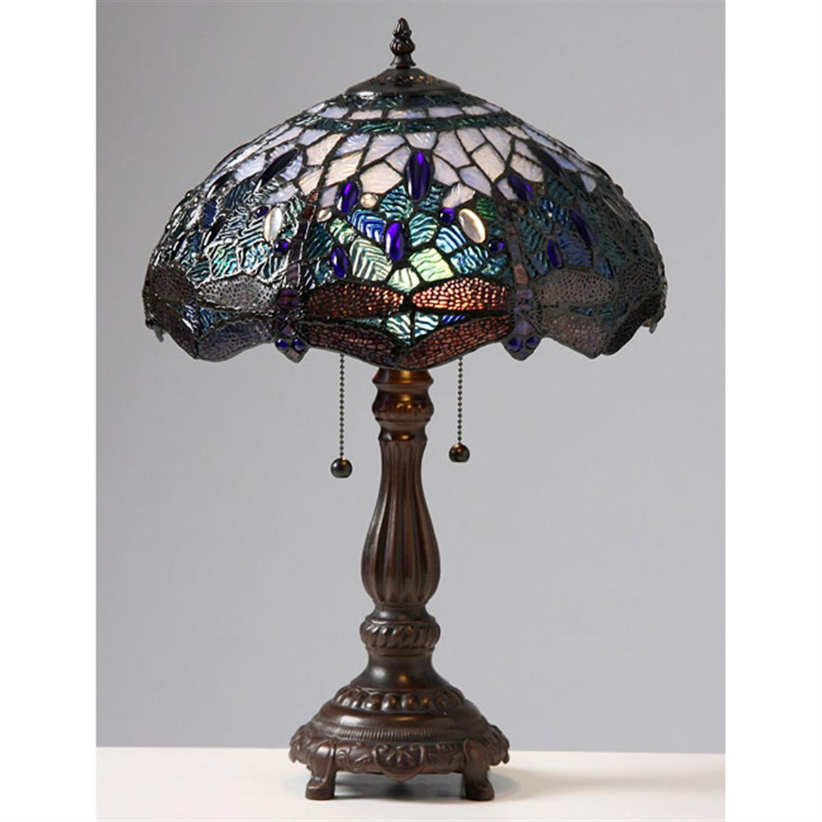 antique tiffany dragonfly floor lamp lamps oriental lily stained for exciting dale table roadshow furnishings accent brass living room ikea sets handmade runner rhinestone iron