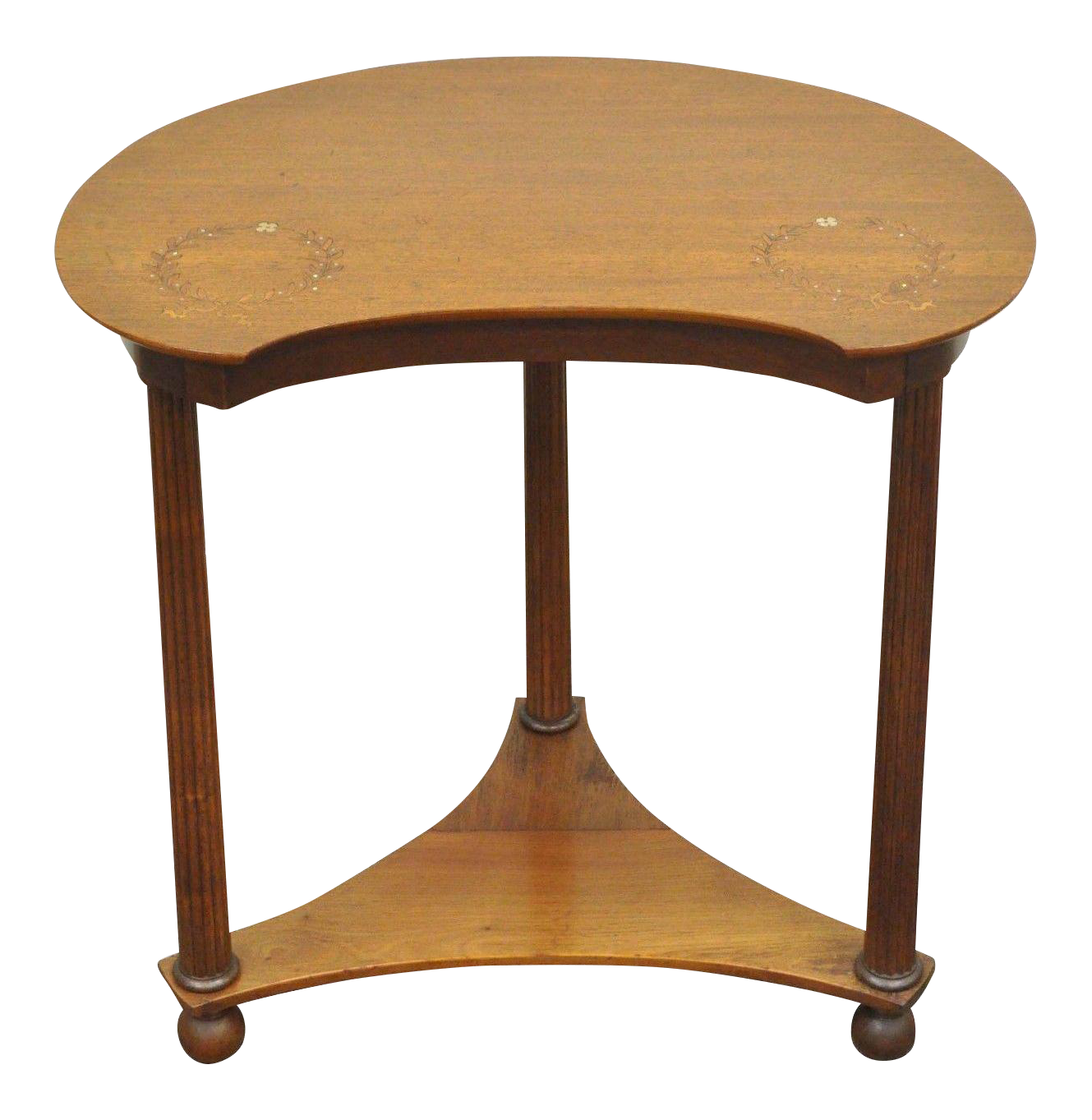 antique victorian mahogany mother pearl inlay kidney shaped side accent table chairish patio dining cover outdoor sun lounge copper desk lamp coffee sets ikea average height small
