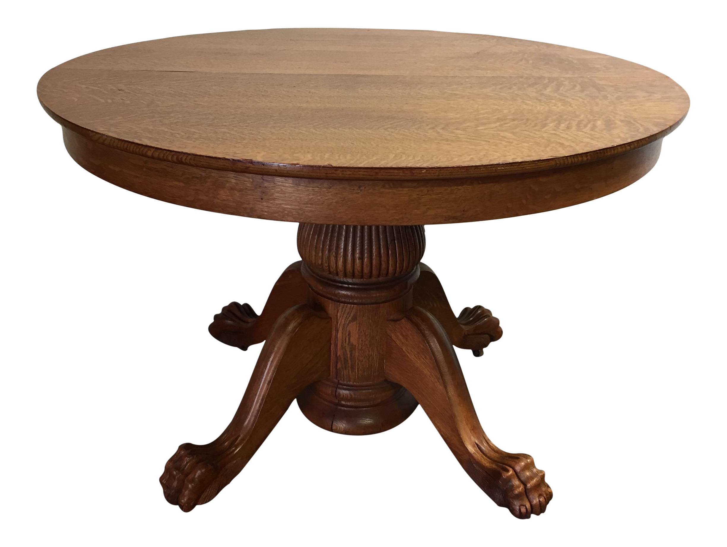 antique victorian tiger oak round dining table chairish accent tall kitchen black bedroom end tables inch console outdoor coffee long thin behind couch plastic tablecloths