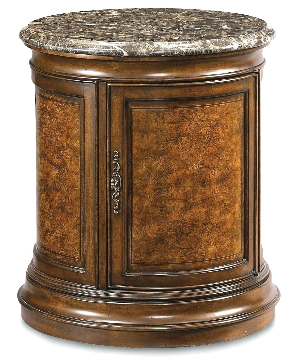 antique vintage burl wood leather top round drum table lamp fevcol door mahogany with drawer signy accent coffee duncan patio furniture covers canadian tire plastic garden and