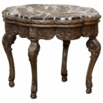 antique walnut lamp table side octagon accent shaped century louis xiv marble top end white cast aluminum touch bedside lamps target threshold sofa company dining chairs lucite 150x150