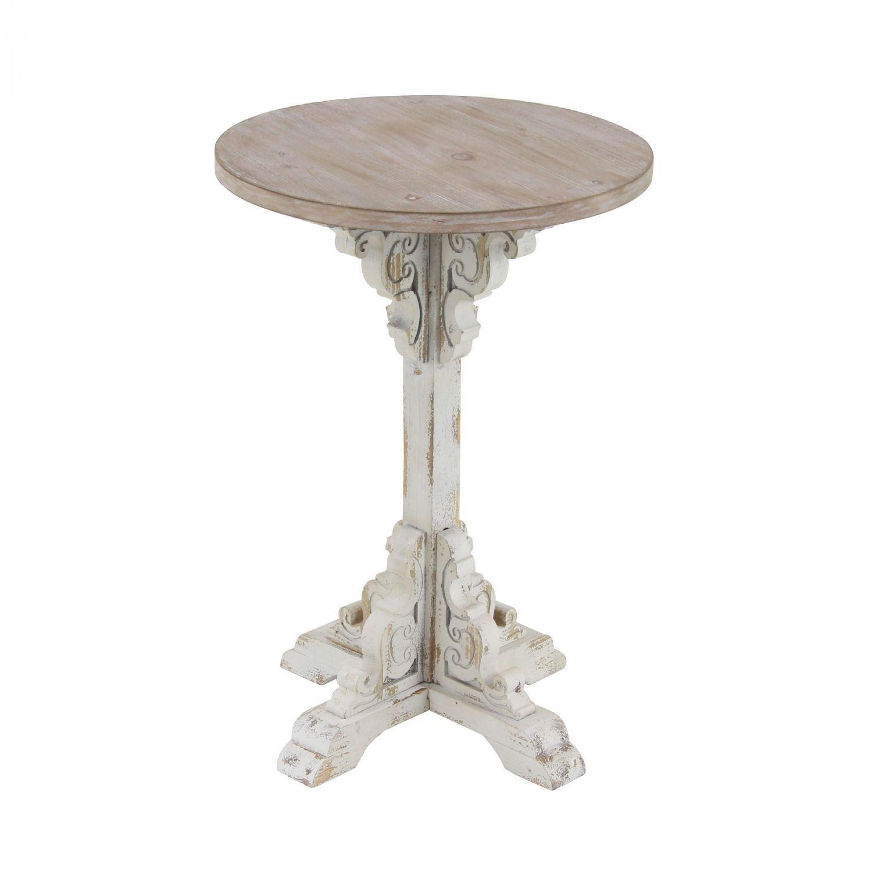 antique white accent table uma enterprises afw end wine furniture console lamps mosaic garden bistro set quoizel tiffany concrete look winsome with drawer rustic metal folding