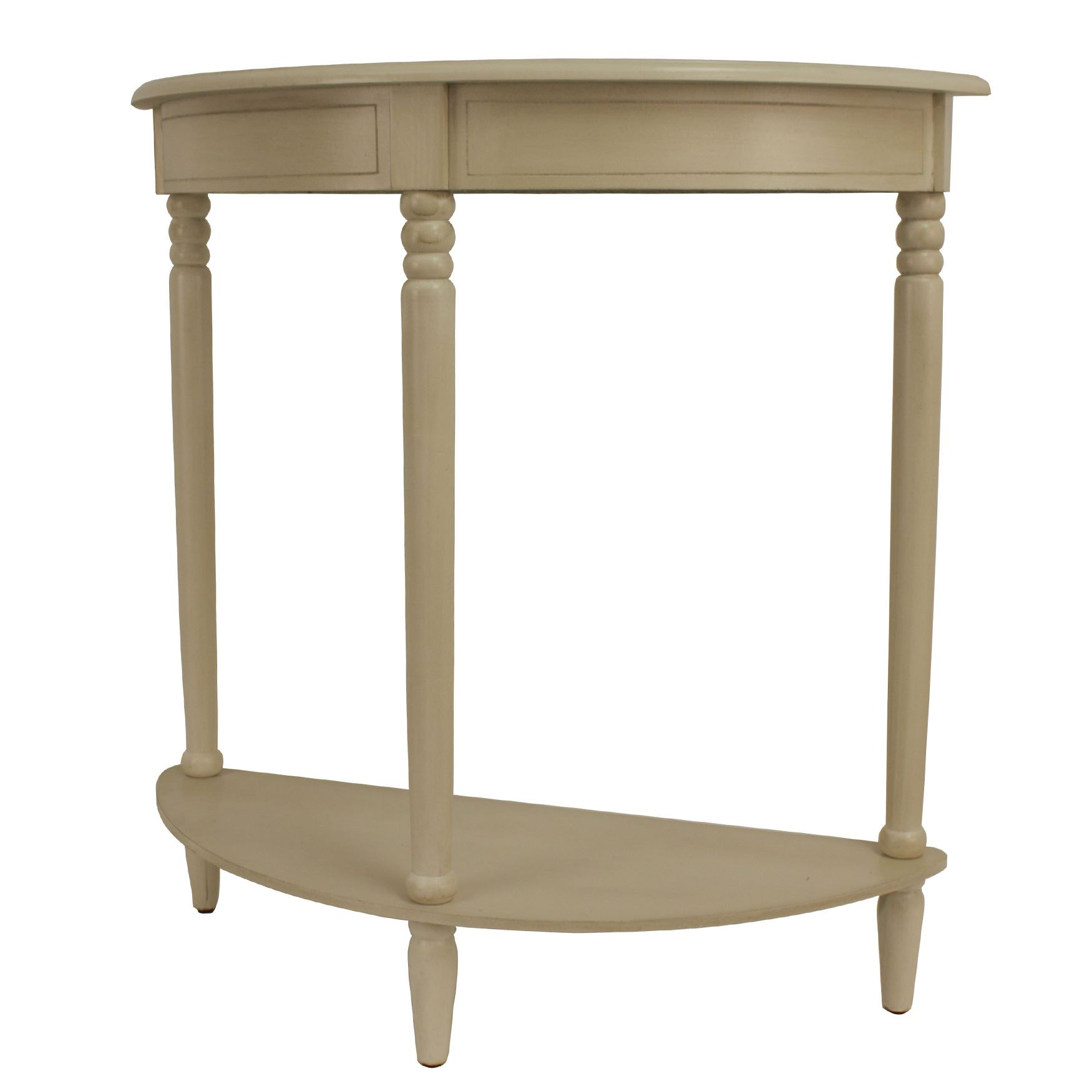 antique white simplicity half round accent table plus size coffee west elm stools entry furniture pieces danish modern side outdoor storage cupboard lamps tree lamp knurl nesting