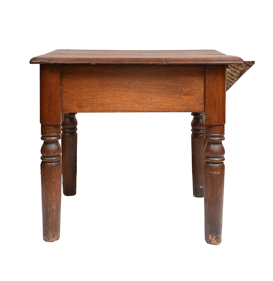 antique wooden accent table ebth mosaic blue industrial couch mirrored console espresso wood end tables pier cabinet furniture kitchen chairs tall white west elm outdoor small