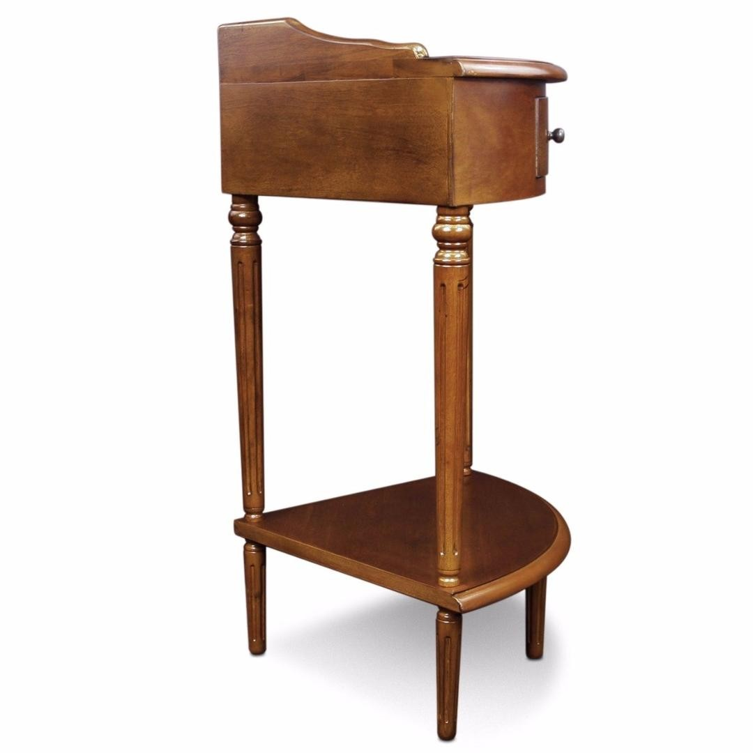 antique wooden corner accent end table desk with drawer box living wood room best light furniture lamp and rose gold fruity alcoholic drinks modern glass top tables white legs