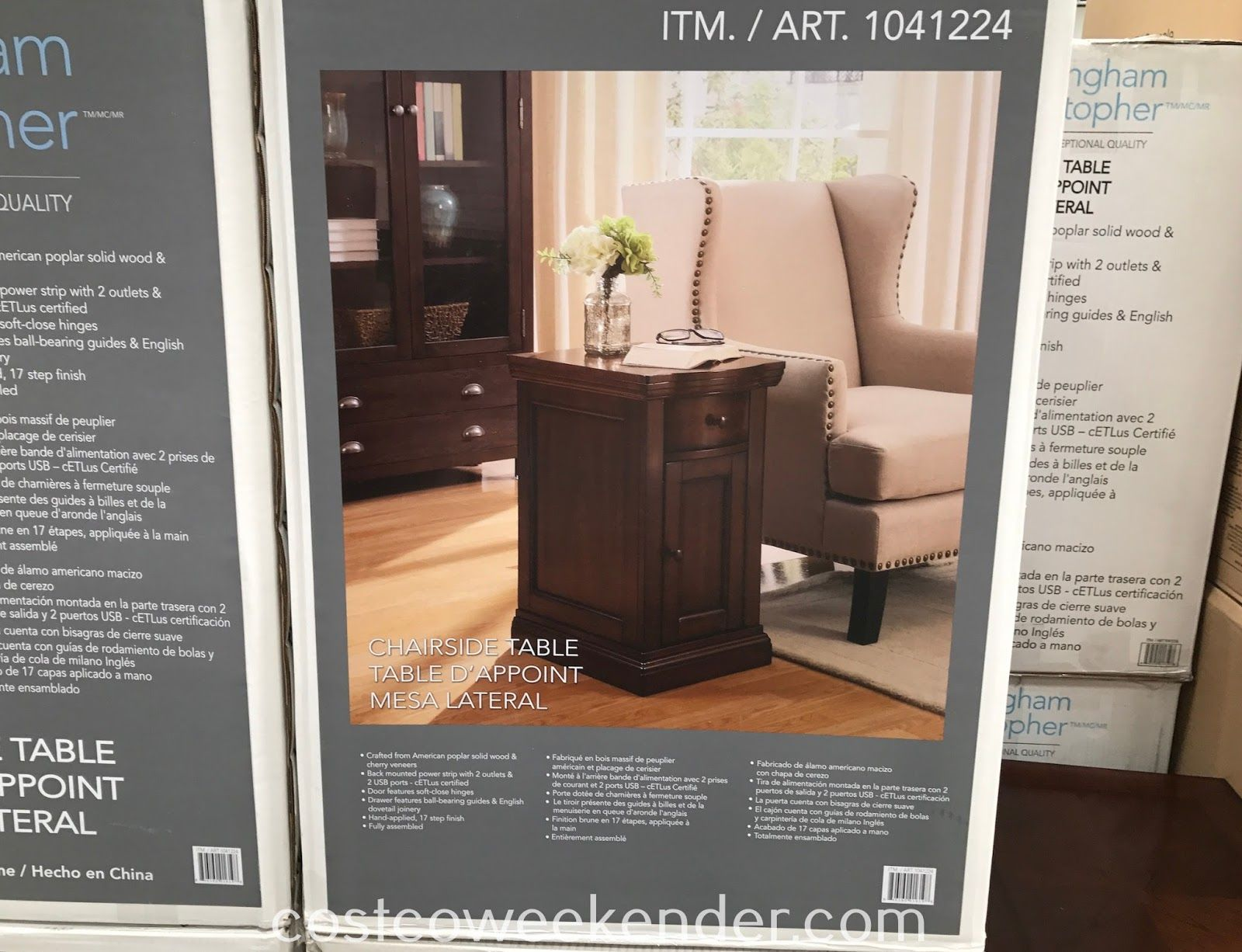 any chair couch needs end table like the buckingham woven accent christopher well universal chairside item which available for outdoor storage containers model home furniture cool