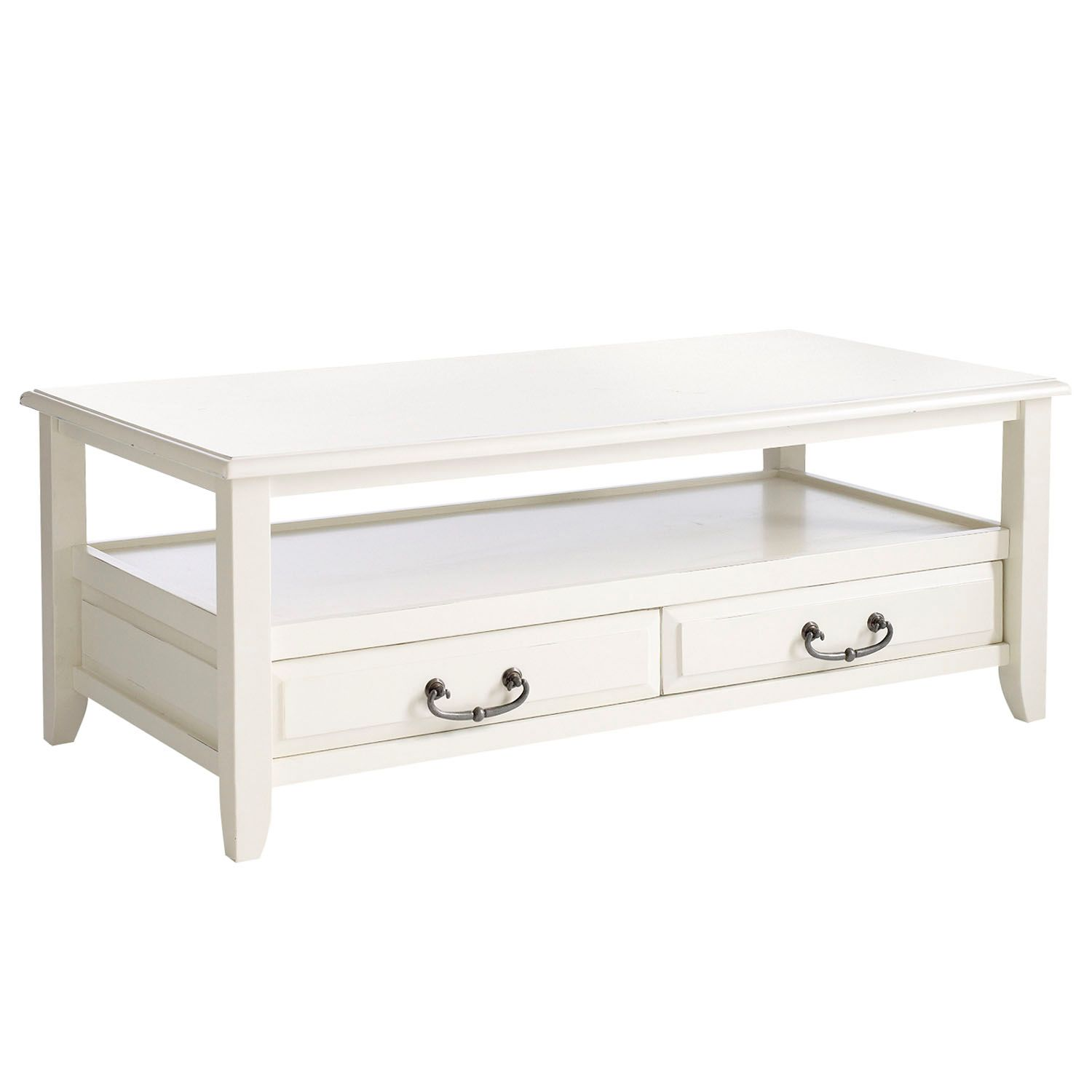 anywhere antique white coffee table with pull handles pier imports one accent metal patio tables marble side living room console garden storage units pottery barn benchwright