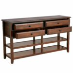 anywhere large tuscan brown console table with kno pier imports one accent collection knobs modern white coffee verizon ellipsis patio furniture side drop mainstays parsons desk 150x150