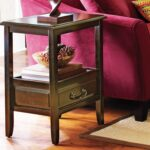 anywhere rubbed black end table with pull handles pier imports one accent small tables target console circular bar storage cabinet decorative boxes lids pottery barn sofa reviews 150x150