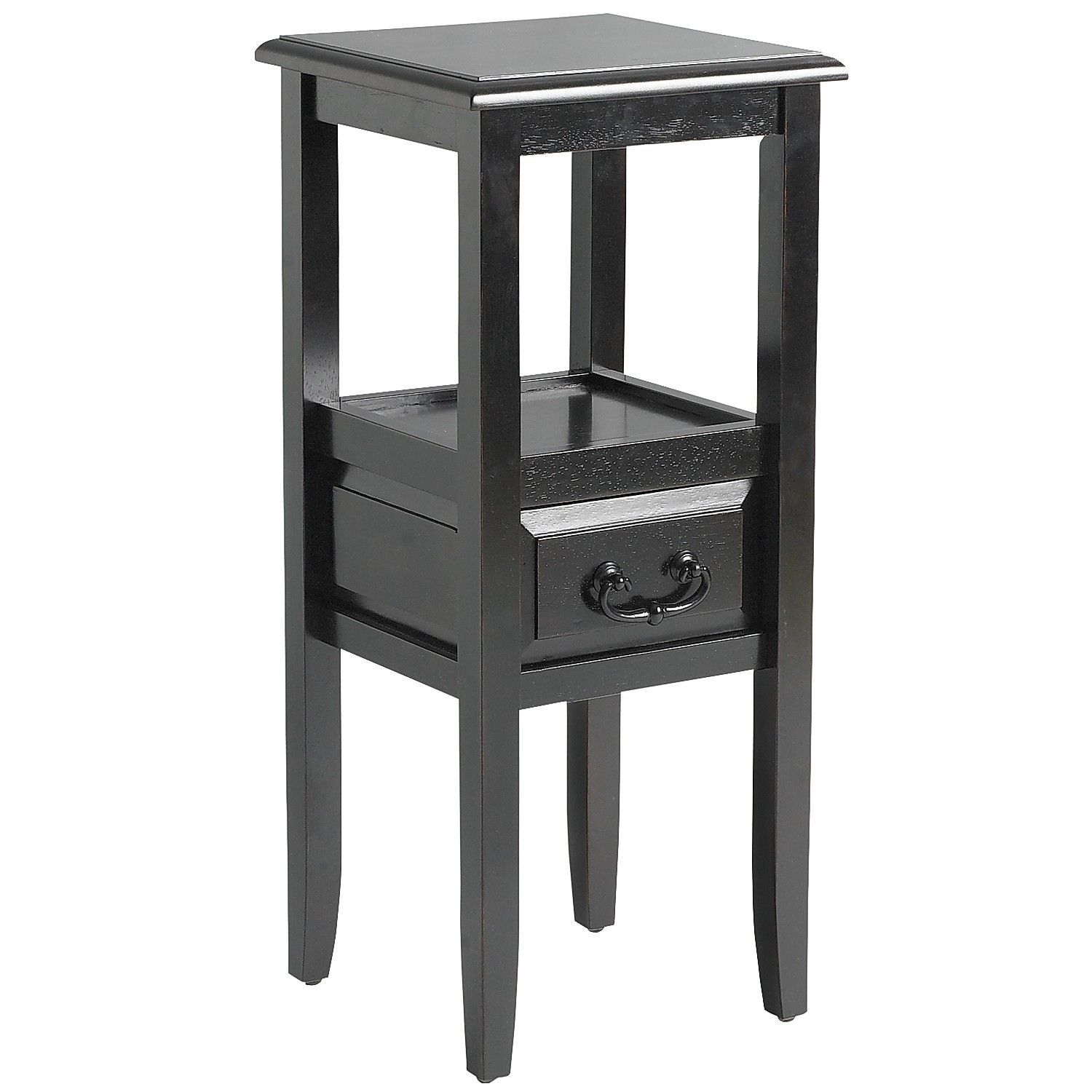 anywhere rubbed black pedestal table with pull handles products kenzie accent target kitchen furniture outdoor built cooler kindle fire small silver lamps nic tables nautical bar
