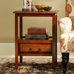 anywhere tuscan brown end table with pull handles pier imports one accent black wrought iron outdoor coffee yellow target circular plastic cloth console garden storage units 150x150