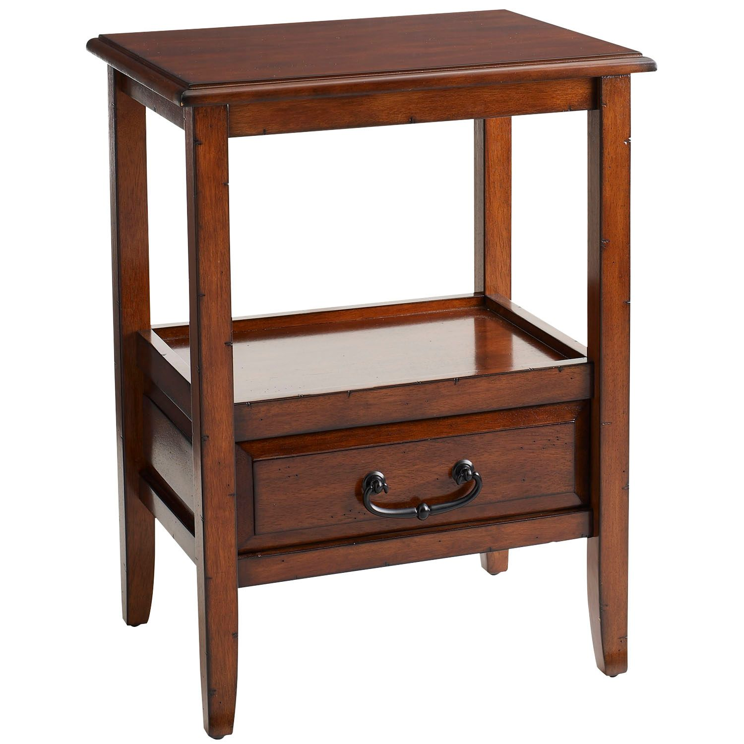 anywhere tuscan brown end table with pull handles pier imports one accent collection dresser drawer wrought iron patio dining mainstays parsons desk inch round garden storage