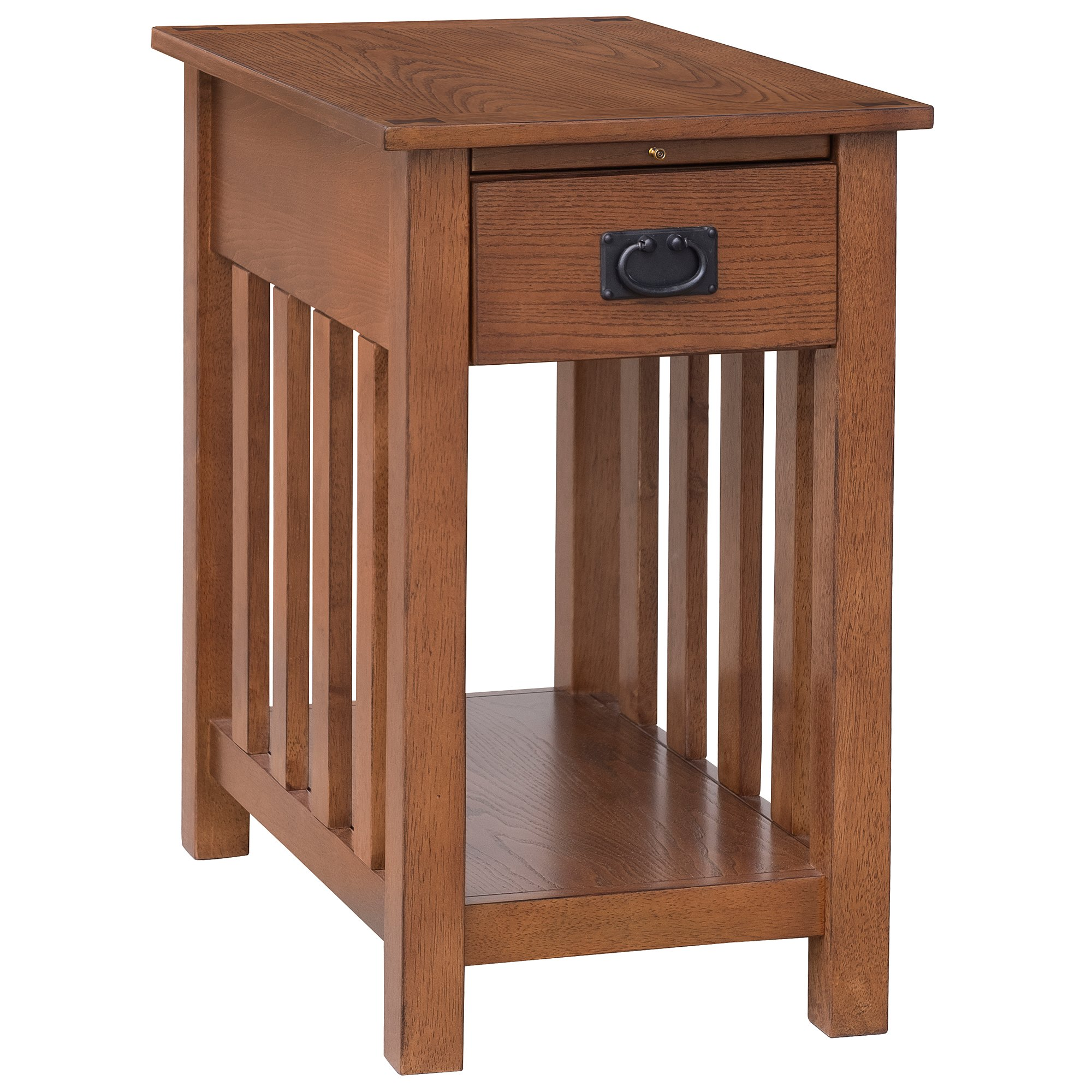aosom homcom wooden side accent end table with drawer tray shelf and storage gray coffee corner chest distressed trestle clock design tall bistro furniture pottery barn glass