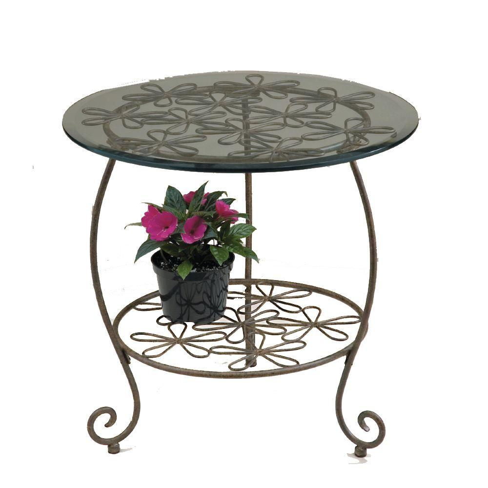 appealing metal patio side table crosley round furniture small extraordinary canadian tire glass target tables outdoor retro fisher wilson vintage red clearance top full size