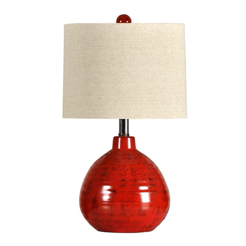 apple red ceramic accent lamp table linen company outdoor dining sets clearance silver bedroom lamps dark wood console with drawers wells furniture coffee and side set weathered