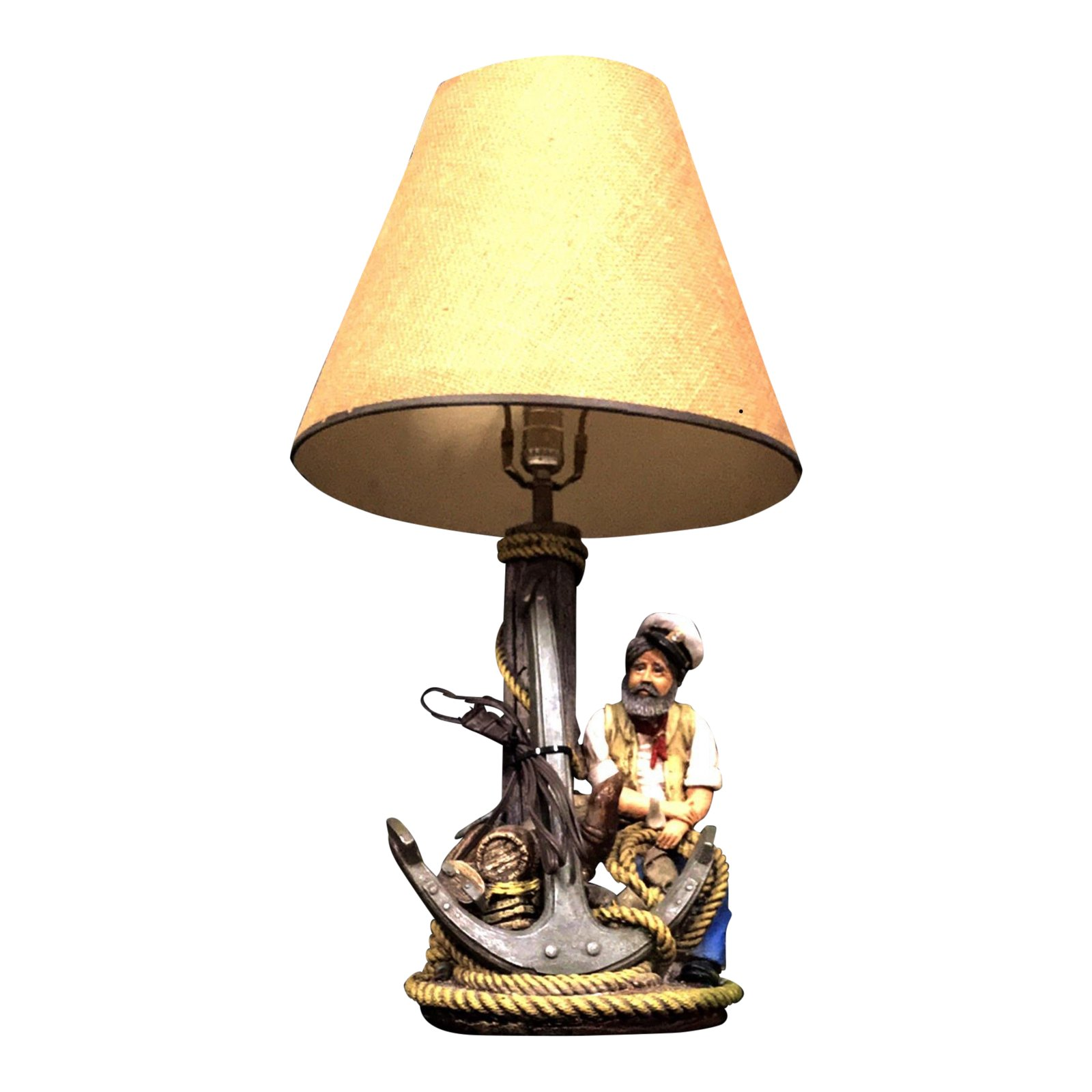 apsit brothers sailor and jim beam chalk table lamp nautical accent lamps chairish monarch hall console inch white antique square coffee furniture homemade wood sofa ping