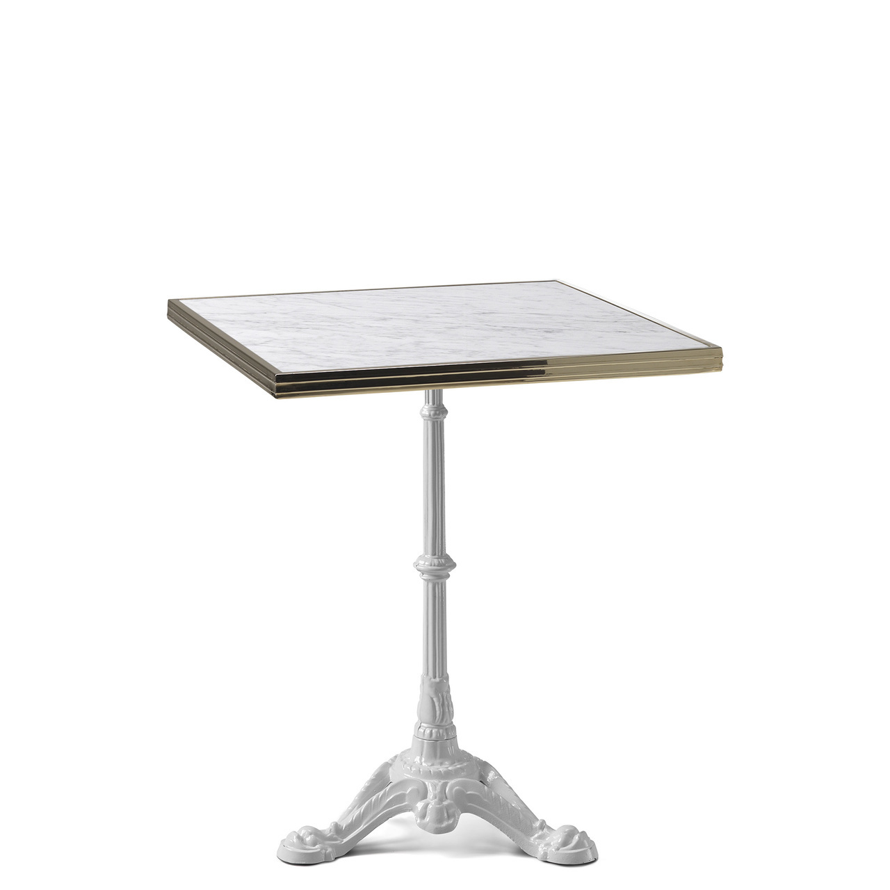 ardamez square white marble haussmann bistro table top marbre laiton carrare copie accent nightstand set kitchen with bench and chairs patio stand rod iron frame unique furniture