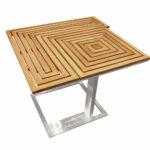 arena side table jane hamley wells modern outdoor teak top stainless steel fold out trestle antique rectangular farmhouse style dining room desk small acrylic accent lamps 150x150