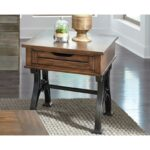 arlington industrial drawer end table with metal trestle base products liberty furniture color room essentials accent free fall runner quilt patterns marble bistro and chairs 150x150