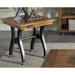arlington industrial end table with metal trestle base rotmans products liberty furniture color room essentials accent arlingtonend barn door kitchen cabinets side one drawer 150x150