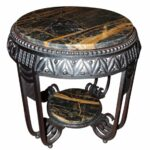 art deco furniture for small tables side cocktail marble accent table ironwork with portoro top kitchen inch round vinyl tablecloth affordable nightstands garden bench seat 150x150
