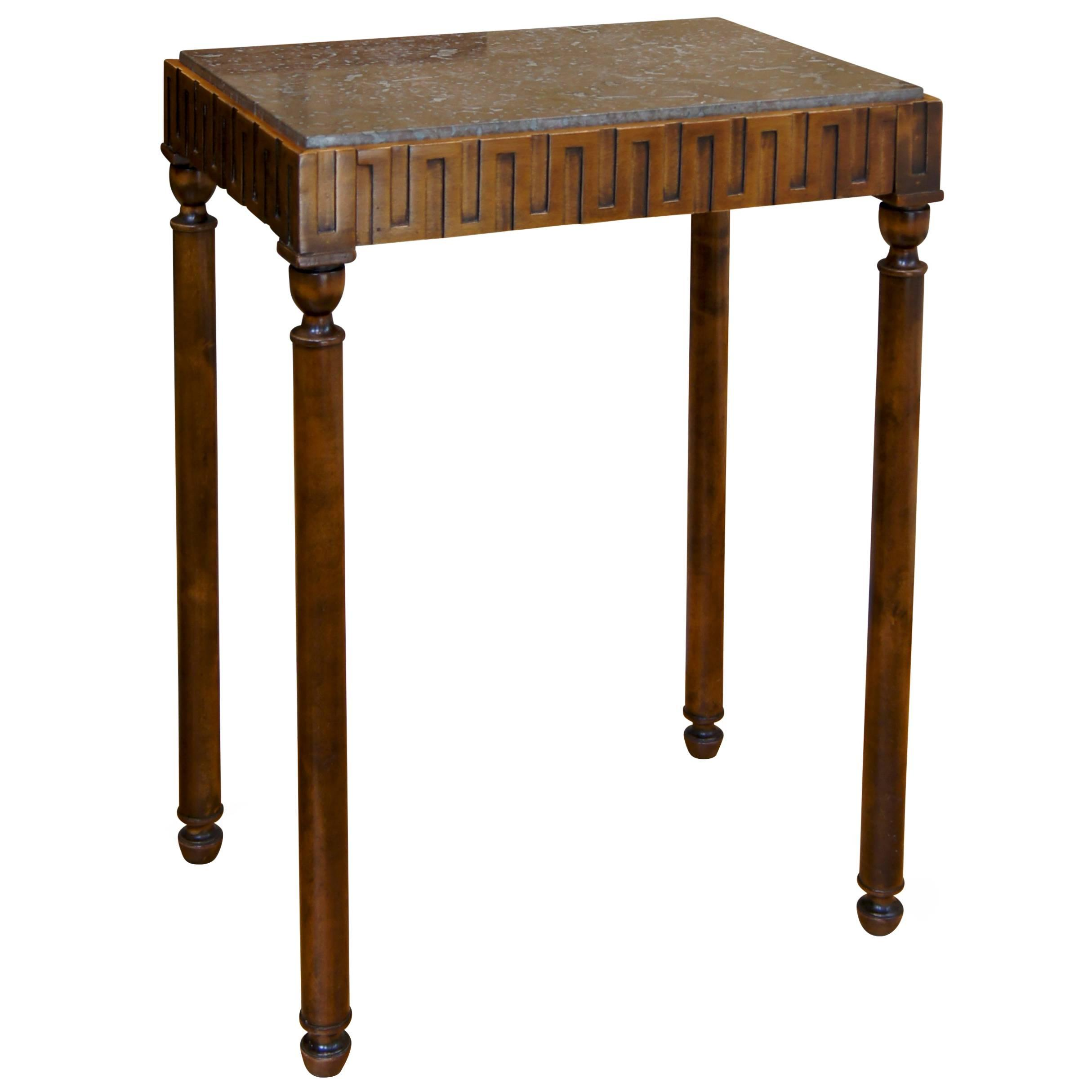 art deco side tables for hjorth table petite greek meander master eugene accent walnut rugs small antique and chairs living room center decor drum stool height round industrial