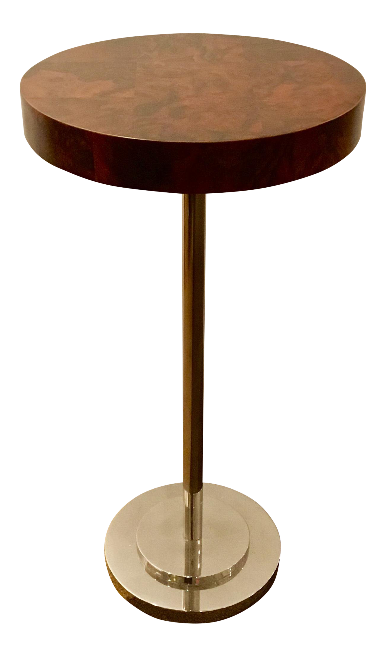 art deco style burl rosewood accent table chairish plastic nic tables grey coffee mirrored sofa silver contemporary lamps for living room ikea dining furniture oak drop leaf
